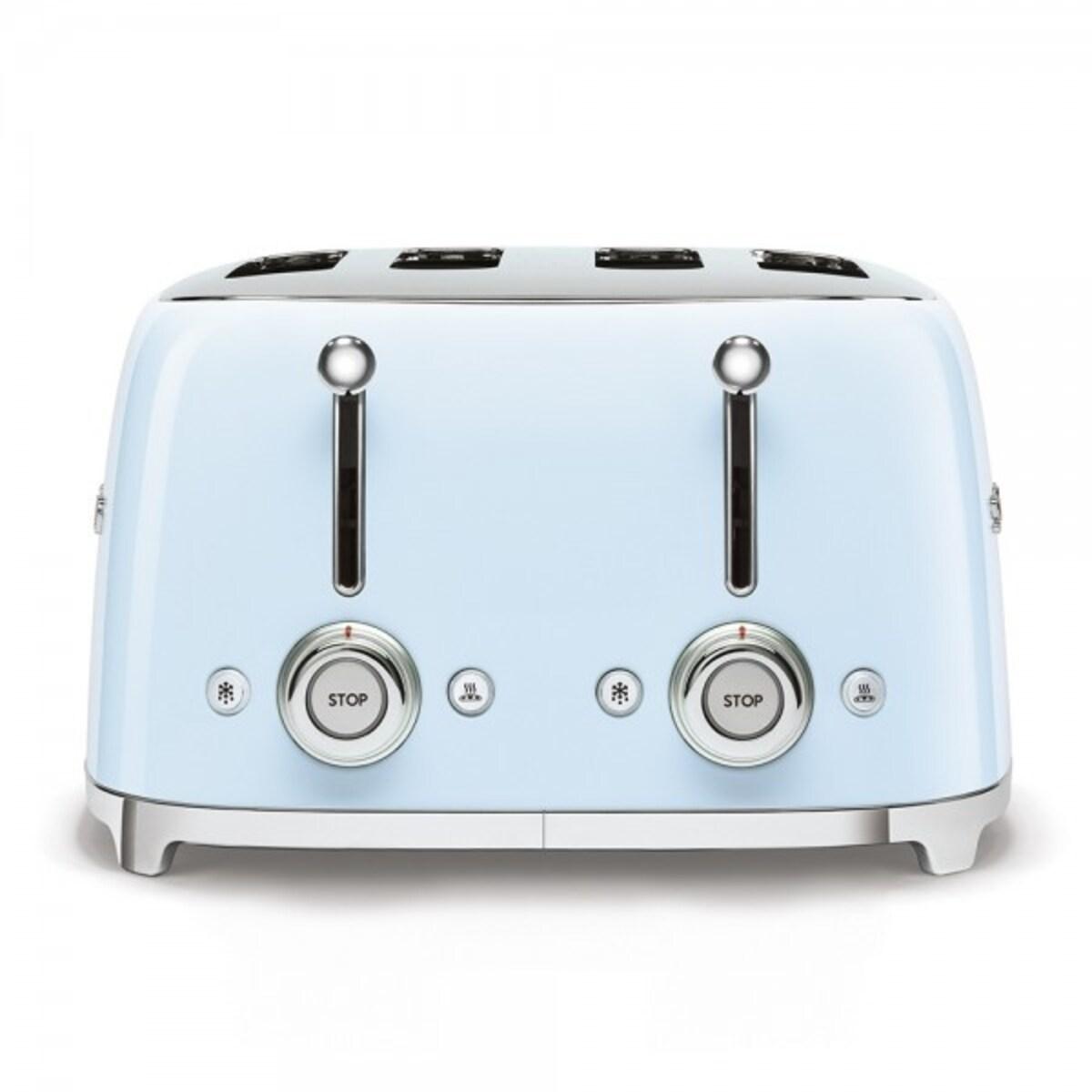 Smeg 50`s Style тостер 4 филии цвят син