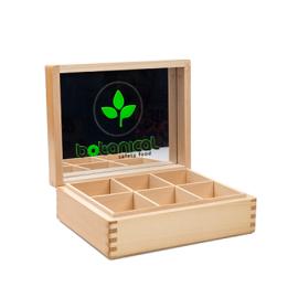 Дървена кутия за 6 вида чай Ботаникъл