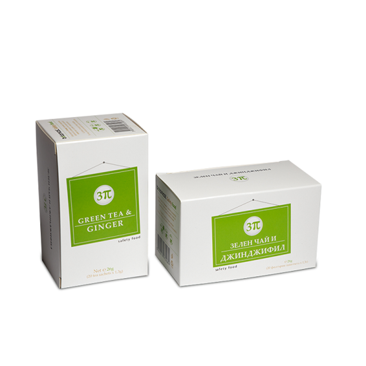 Серия 3π Зелен чай и джинджифил чай на сашета