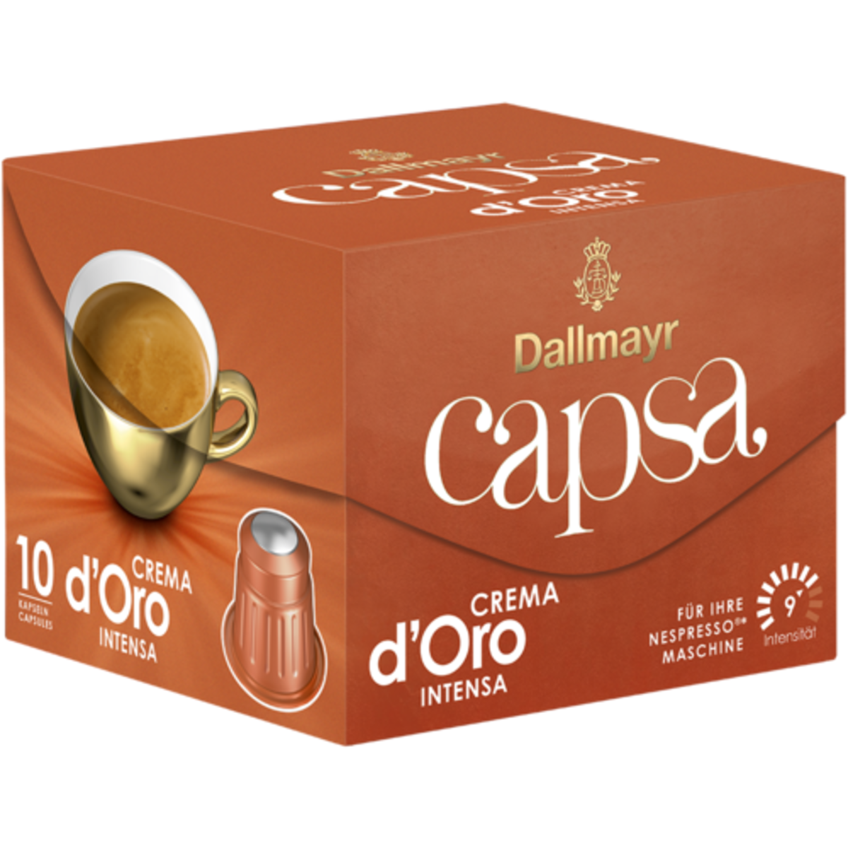 Dallmayr capsa Crema D'oro Intensa  Nespresso съвместими капсули