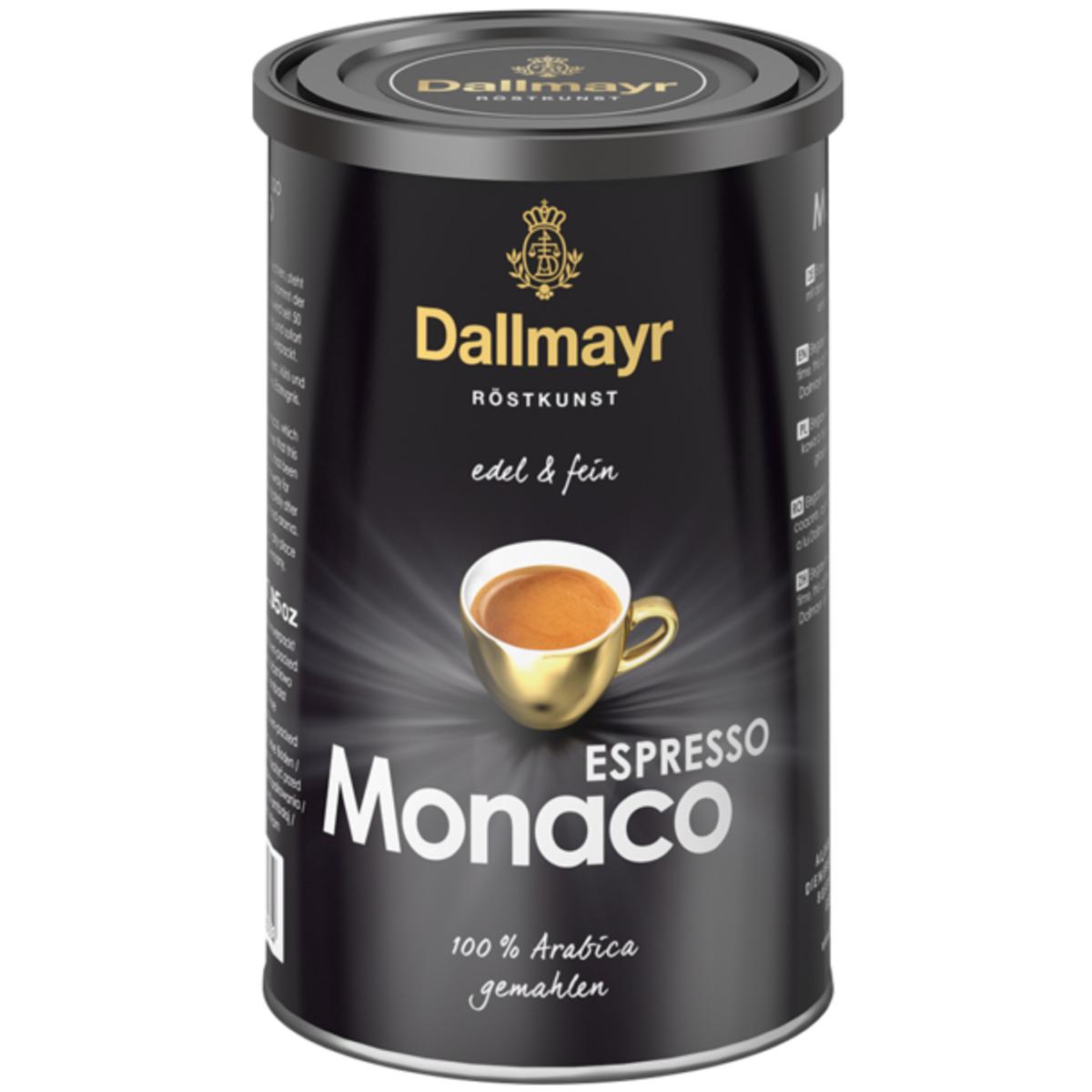 Dallmayr Espresso Monaco 200гр мляно кафе в метална кутия