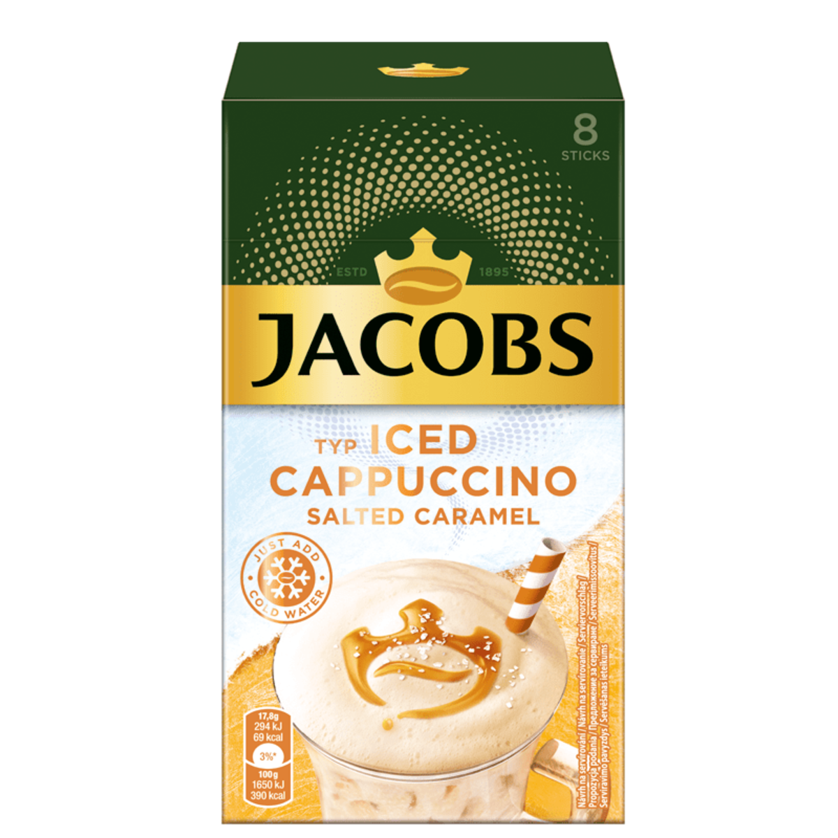 Jacobs Iced Cappuccino Разтворима кафе напитка