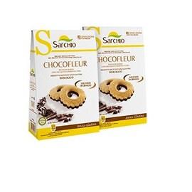 Безглутенови био бисквити Sarchio с черен шоколад 120гр