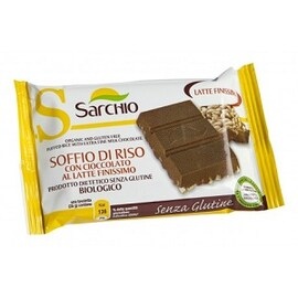 Био безглутенова вафла с млечен шоколад 25гр Sarchio