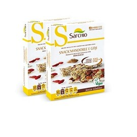 Безглутеново био десертче с годжи бери и бадеми Sarchio 80гр
