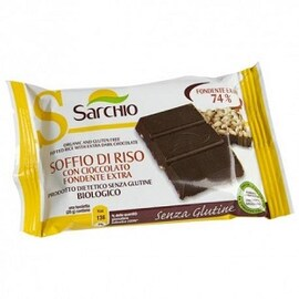 Био безглутенова вафла с черен шоколад Sarchio 25гр