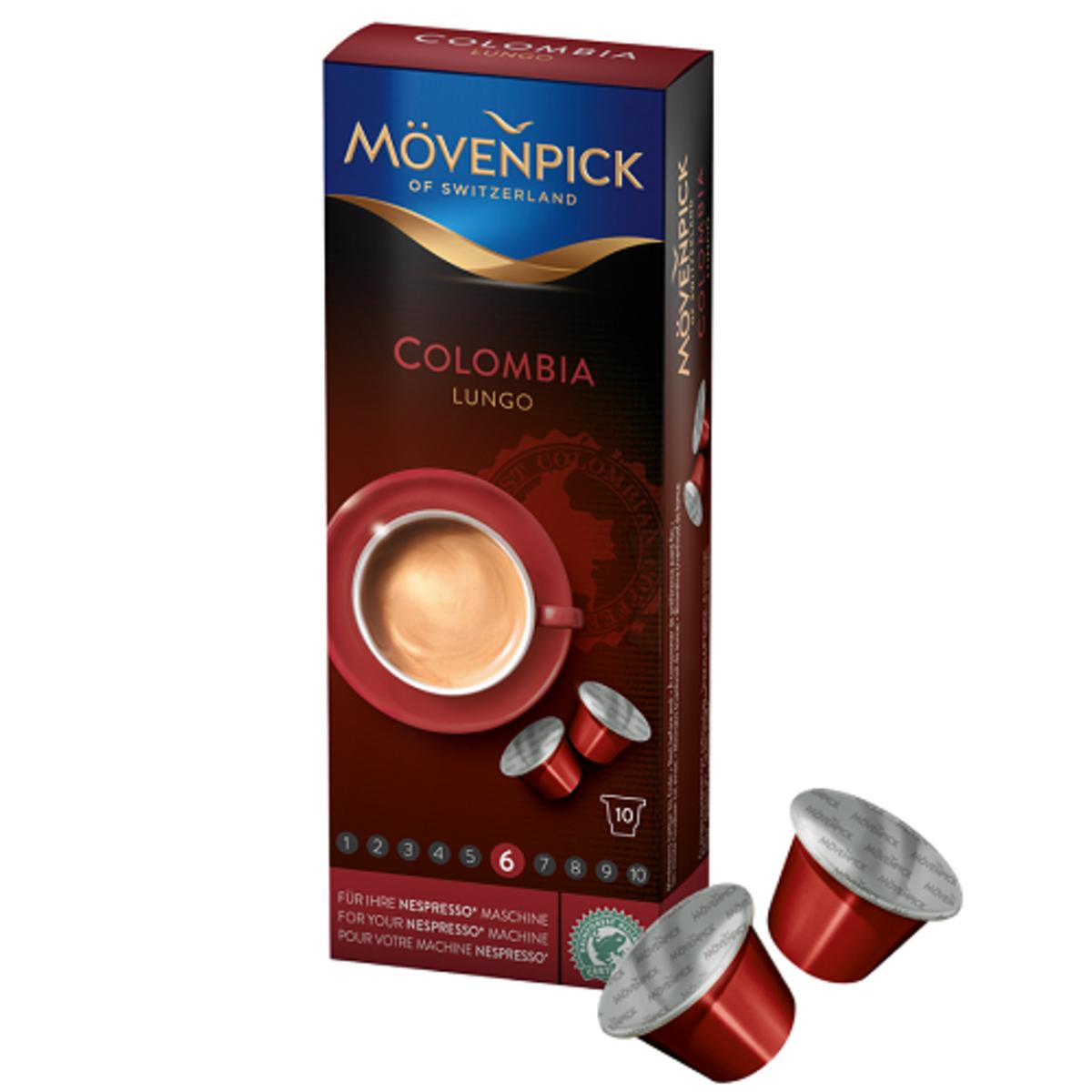 Mövenpick Colombia Lungo Nespresso съвместими капсули 10бр