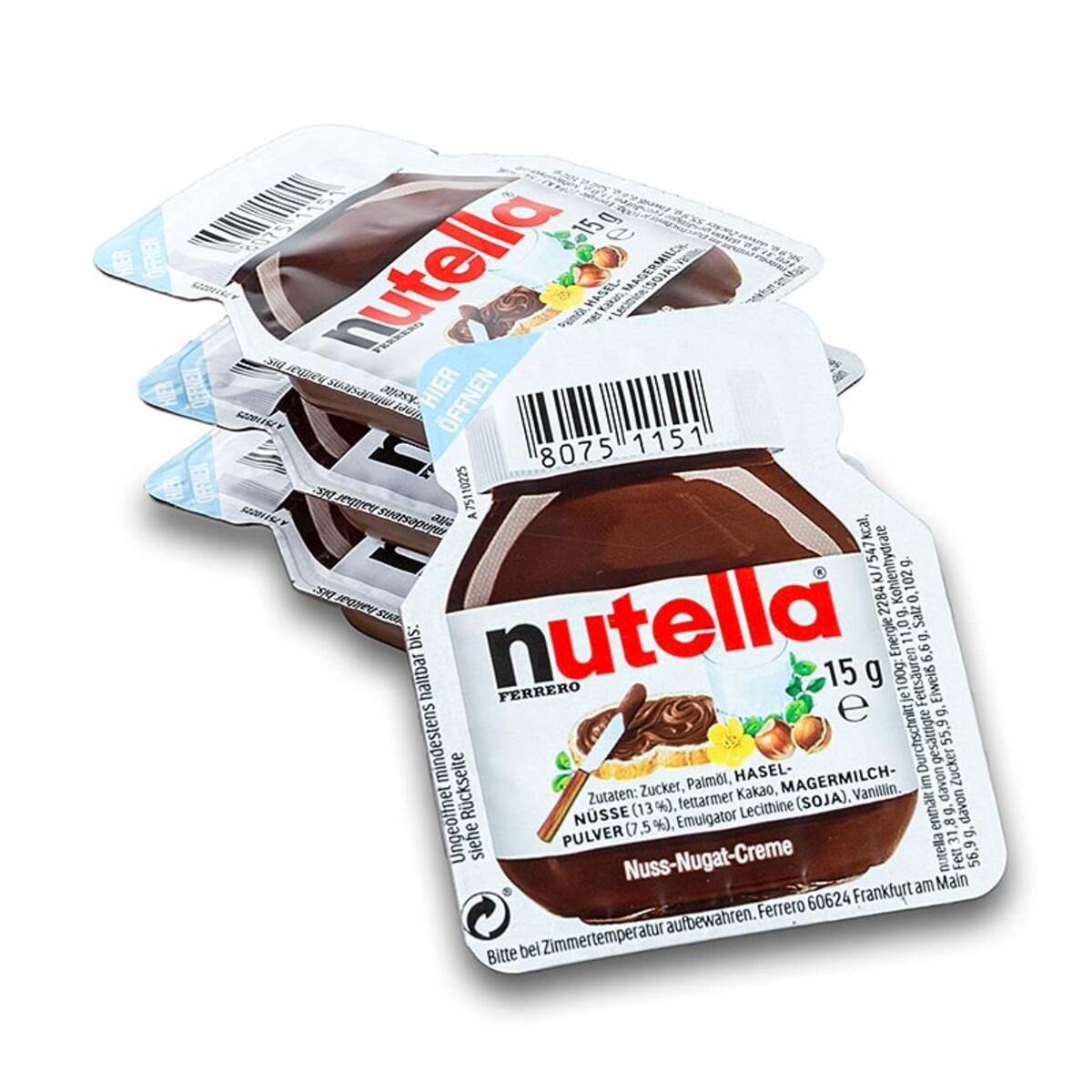 Nutella 15гр течен шоколад, 120бр