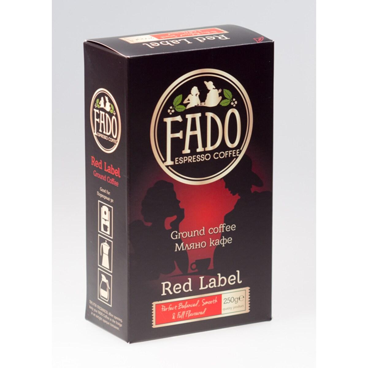 Fado Red Label espresso coffee мляно кафе 250гр