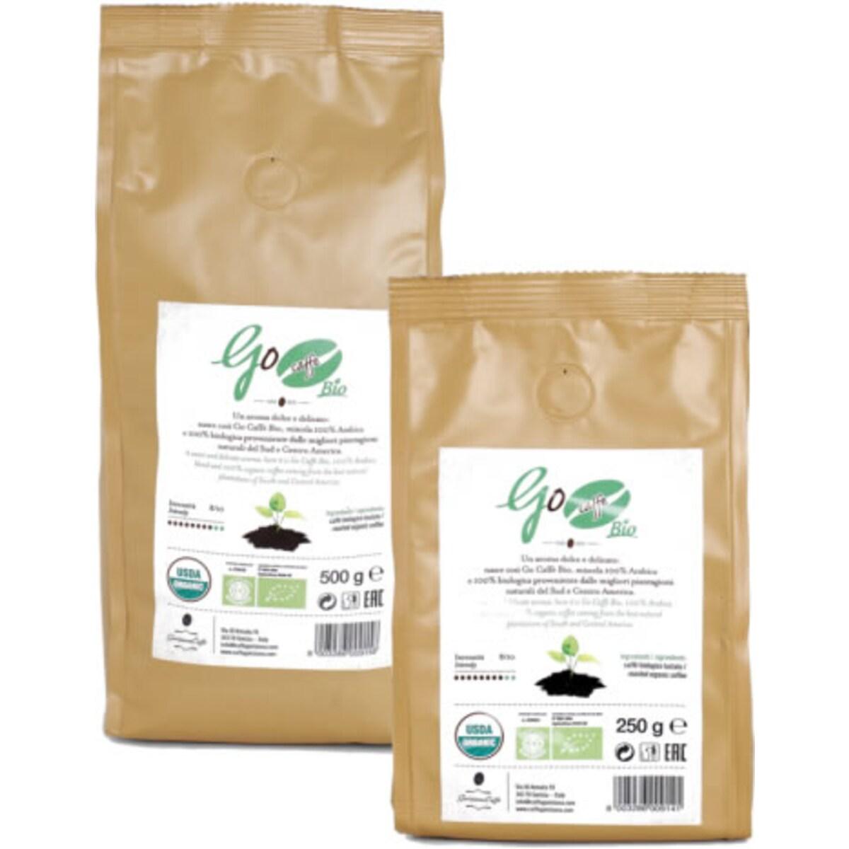 Go Caffe Bio кафе на зърна 500гр