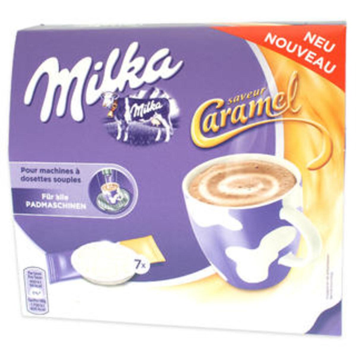 Milka пада горещ шоколад с карамел за Сенсео кафемашина