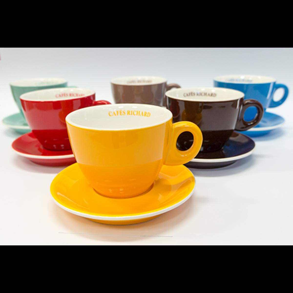 Cafes Richard комплект цветни капучино чаши, 6бр