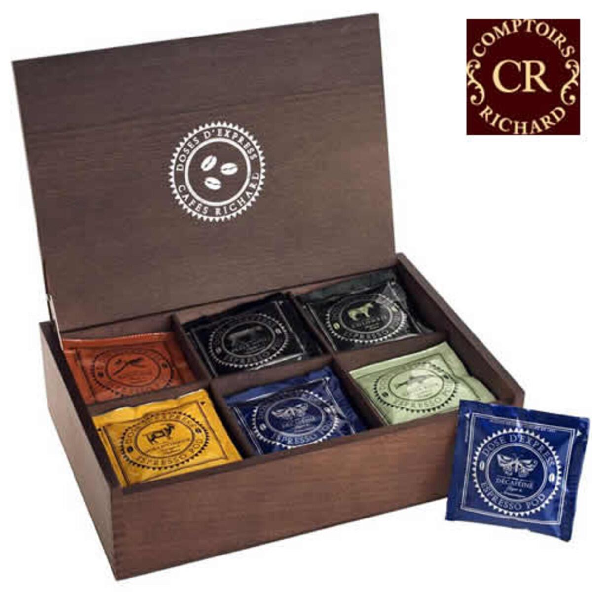 Cafés Richard Coffret Pod Chr - Подаръчна кутия от 36 бр дози кафе
