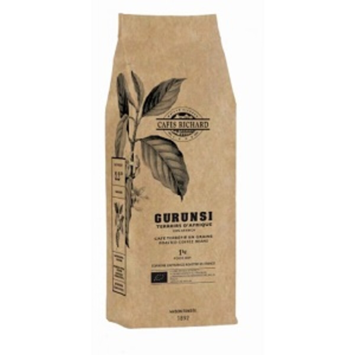 Terroirs D'Afrique Gurunsi Bio Boabe от Cafes Richard, кафе на зърна 1кг