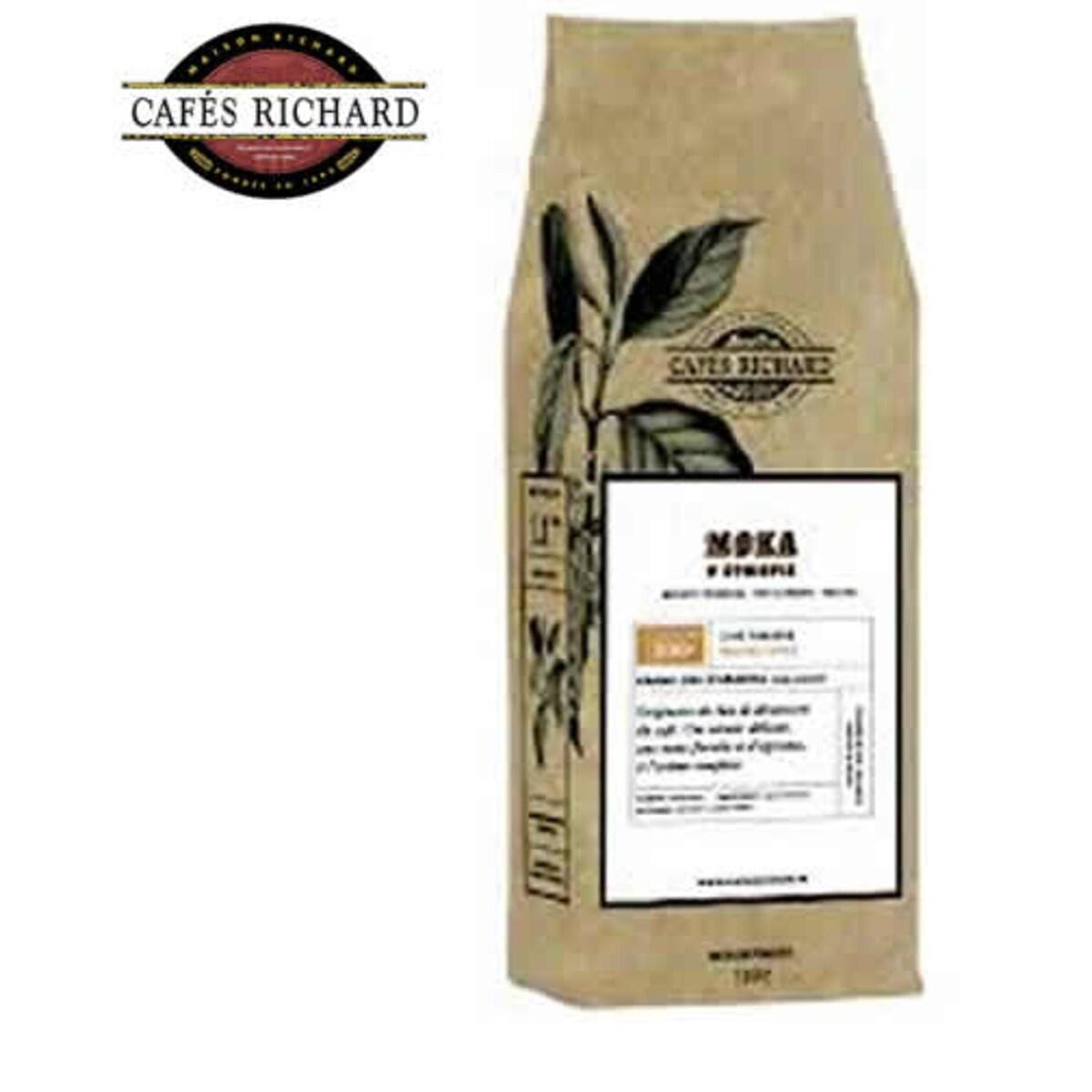 Cafés Richard Moka D'Ethiopie кафе на зърна 500 гр