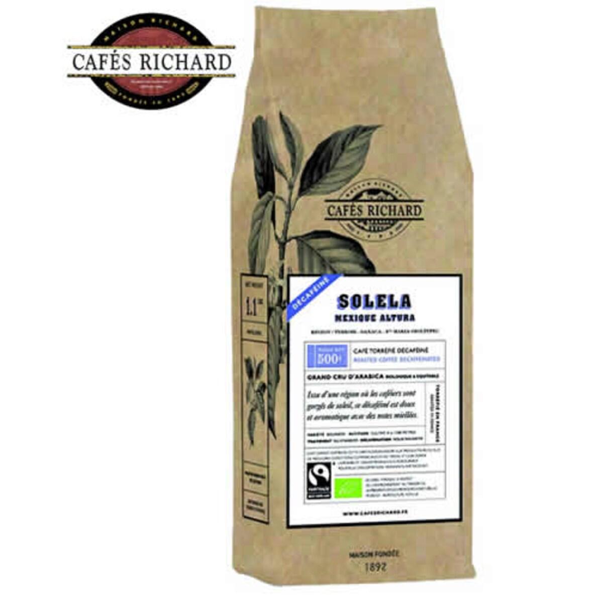 Cafés Richard Solela Mexique Altura - безкофеиново кафе на зърна 500 гр