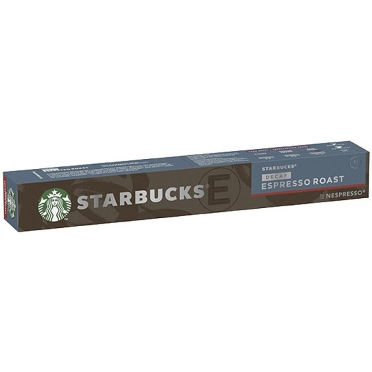 Starbucks Espresso Roast Decaf 10бр Nespresso съвместими капсули
