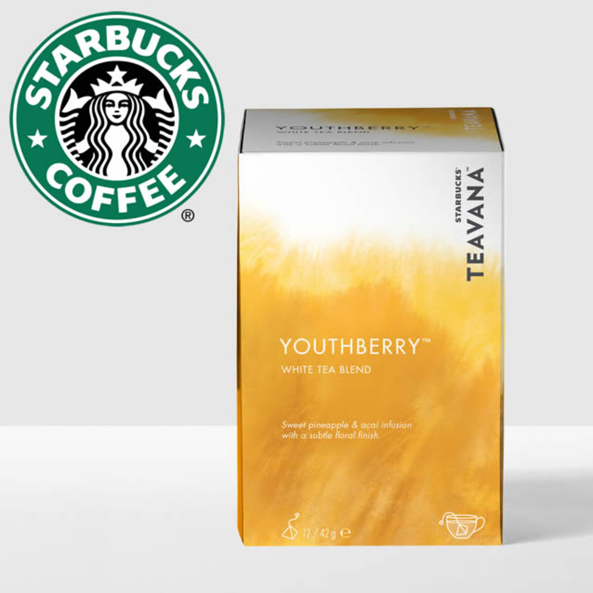 Starbucks Youthberry бял чай 12бр сашета