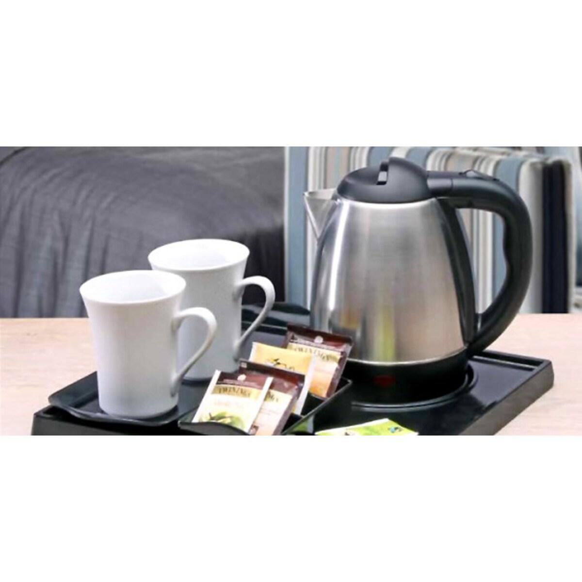 Електрическа кана с луксозна табла поставка за кафе и чай