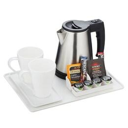 Табла/поставка за чай и кафе Emberton Heywood White за хотелска стая