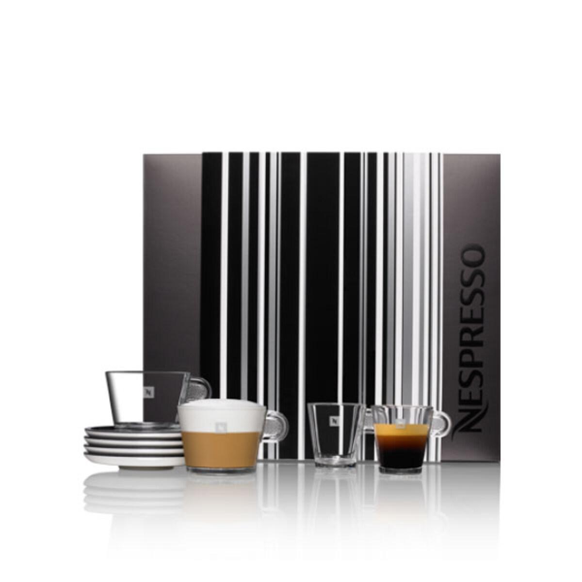 Nespresso чаши Glass Kit Black & White