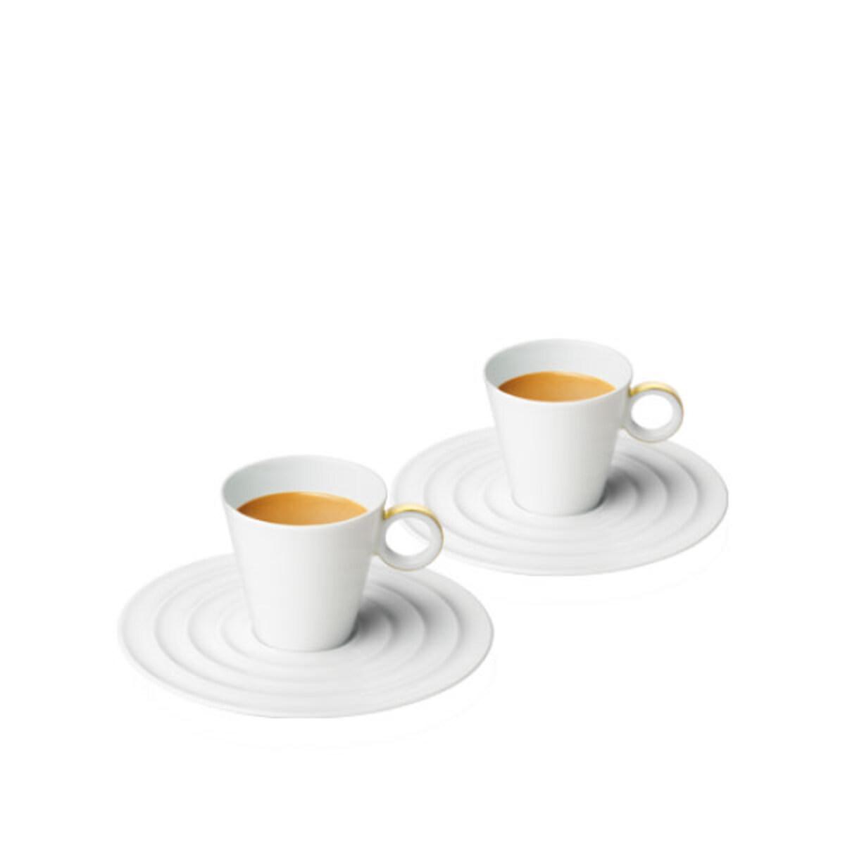 Nespresso чаши Premium Lungo White Ring