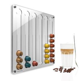 Стенен диспенсер прав за Nespresso капсули - прозрачен