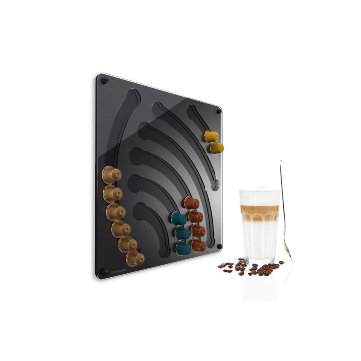Стенен диспенсер водопад за Nespresso капсули - черен