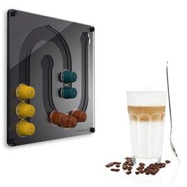 Стенен мини диспенсер Juhu за Nespresso капсули - черен