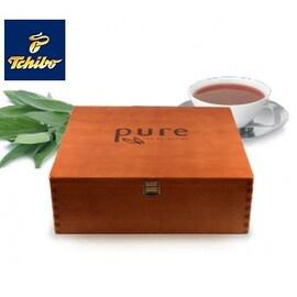 Дървена кутия за чай Tchibo Pure Tea Selection