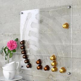 Стенен диспенсер водопад за Nespresso капсули - прозрачен