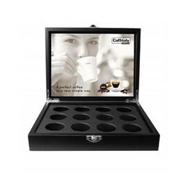 Caffitaly луксозна дървена презентационна кутия за 24 капсули Tchibo Cafissimo, Ecaffe и Julius Meinl