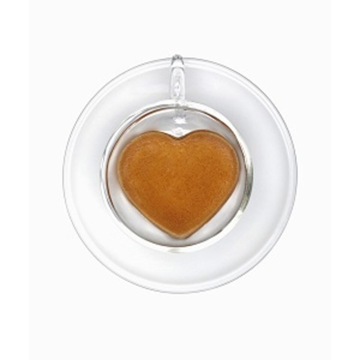 Ecaffe You&Me - комплект чаши сърце с двойно дъно, 60мл
