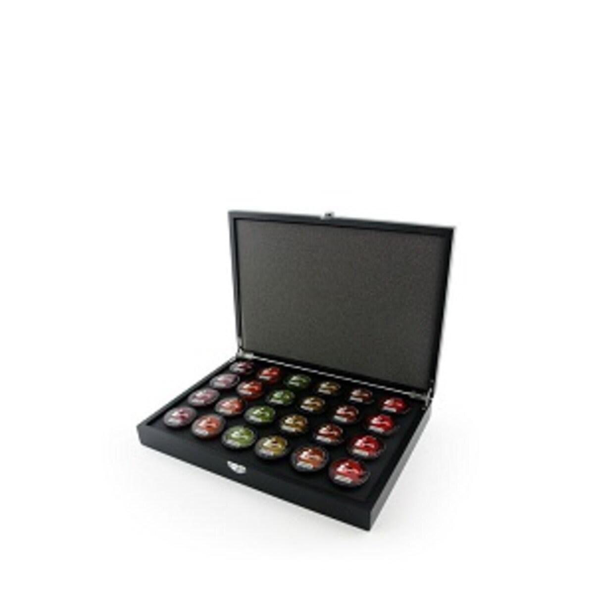 Caffitaly луксозна дървена презентационна кутия за 24 капсули Tchibo Cafissimo