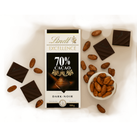 Черен шоколад Lindt Excellence 70% 100гр