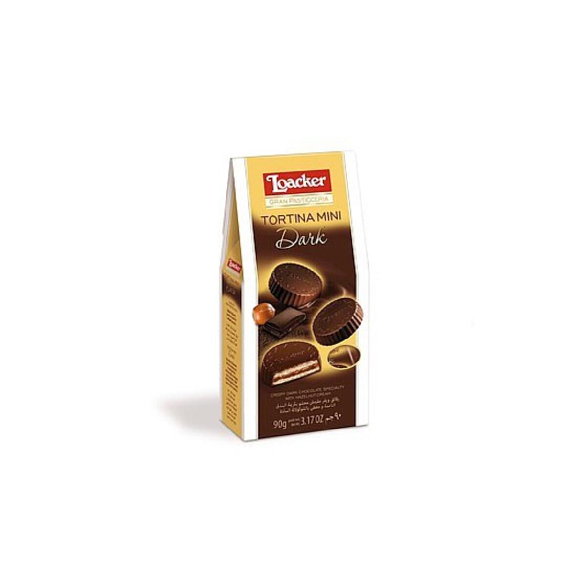 Loacker Tortina mini с черен шоколад 90 гр