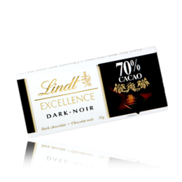Черен шоколад Lindt Excellence 70% 35гр