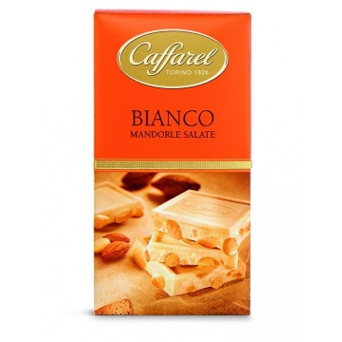 Шоколад Caffarel Bianco с бадем 150 гр