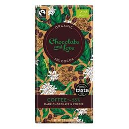Органичен шоколад с кафе, 55% какао, веган, Chocolate and Love