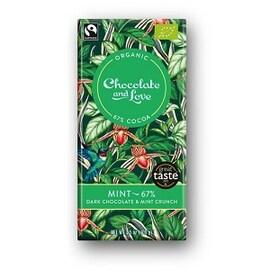 Органичен шоколад Mint 67% какао, 80гр органичен, Chocolate and Love