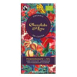 Веган органичен шоколад с нар, 70% какао, 40гр от Chocolate and Love