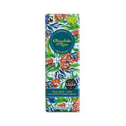 Морска сол и карамел органичен шоколад, 55% какао, 40гр от Chocolate and Love