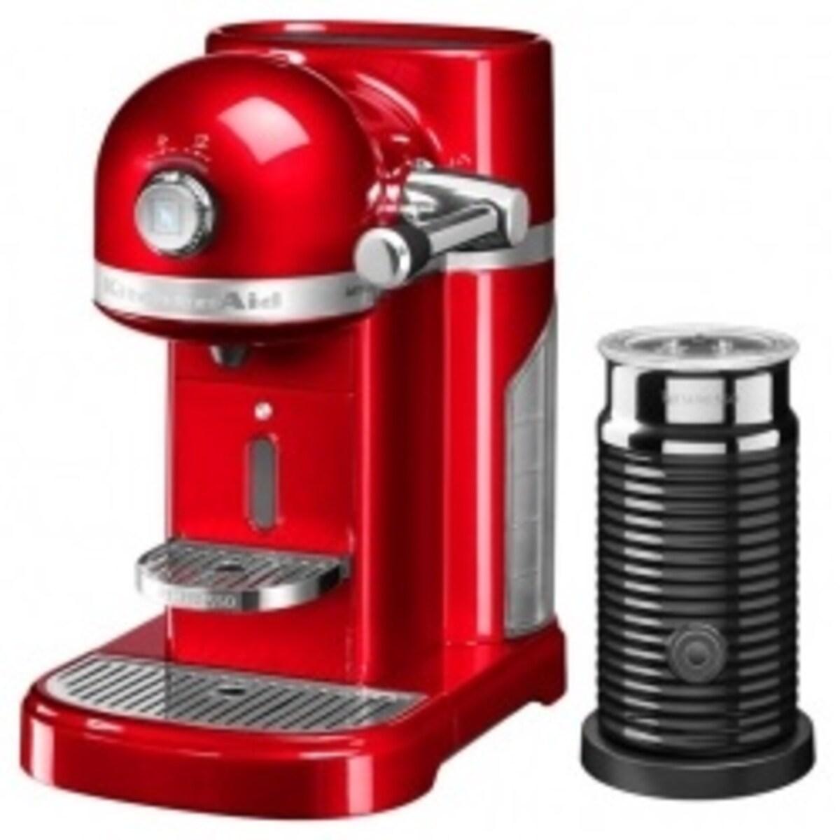 Nespresso Kitchen Aid Candy Apple Red със система за мляко кафемашина