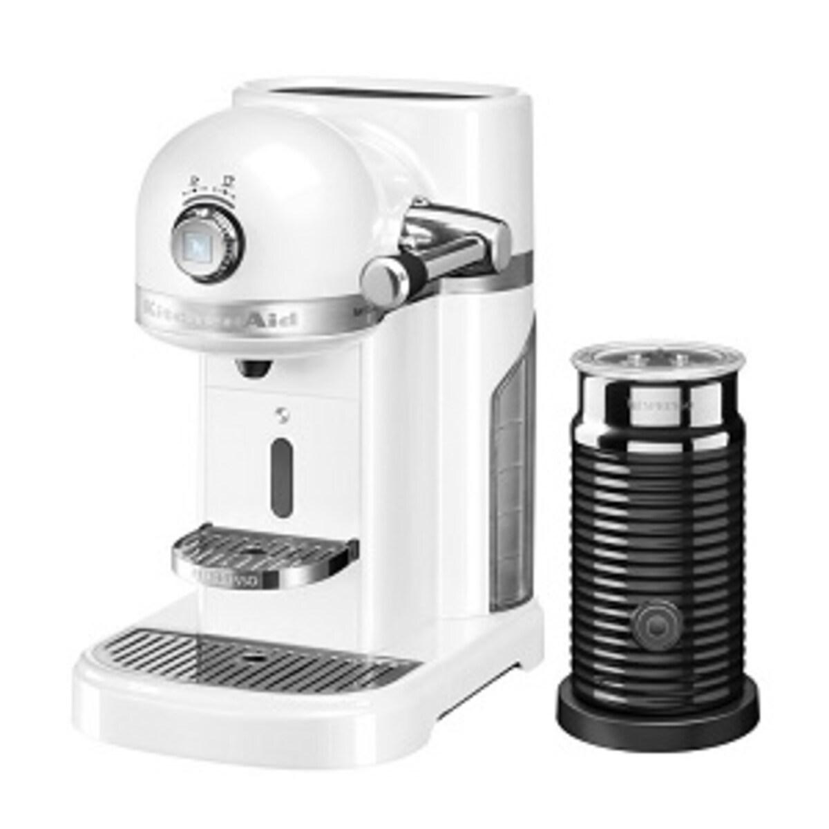 Nespresso Kitchen Aid Frosted Pearl със система за мляко
