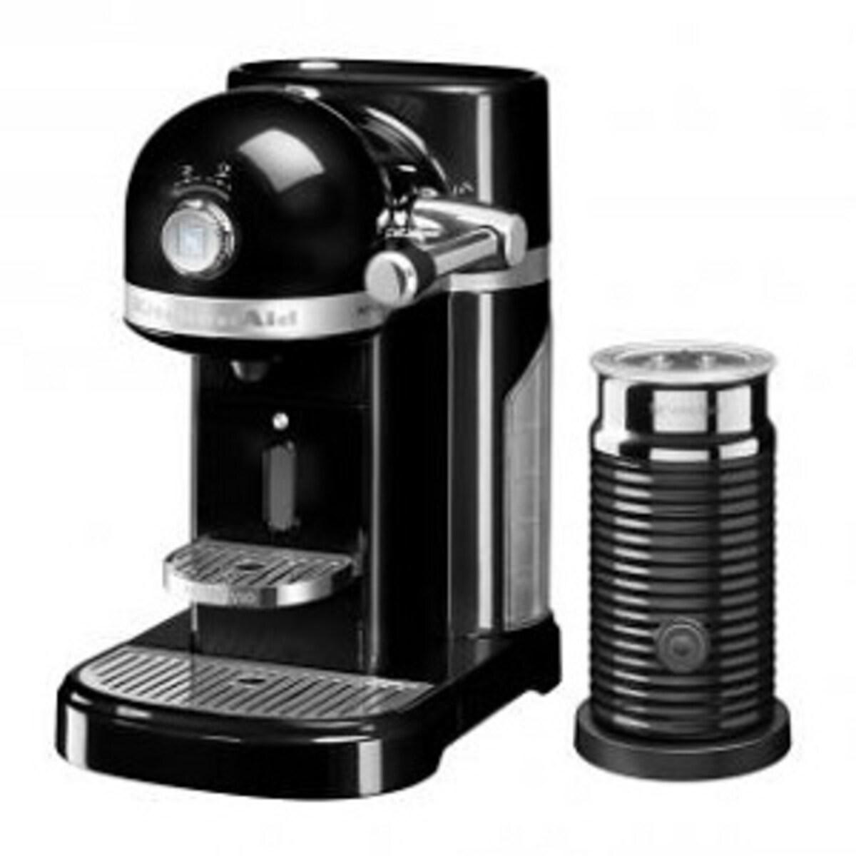Nespresso Kitchen Aid Onyx Black със система за мляко