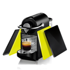 Nespresso Krups Pixie Clips Lemon Neon & Black XN302099