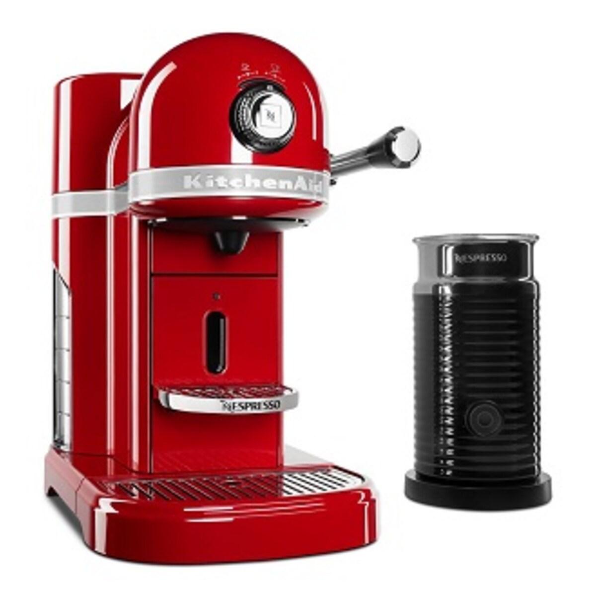 Nespresso Kitchen Aid Empire Red със система за мляко