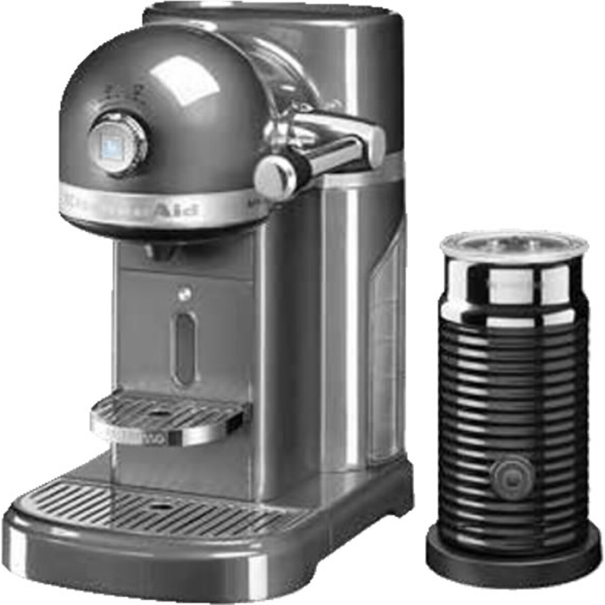 Nespresso Kitchen Aid Medallion Silver със система за мляко