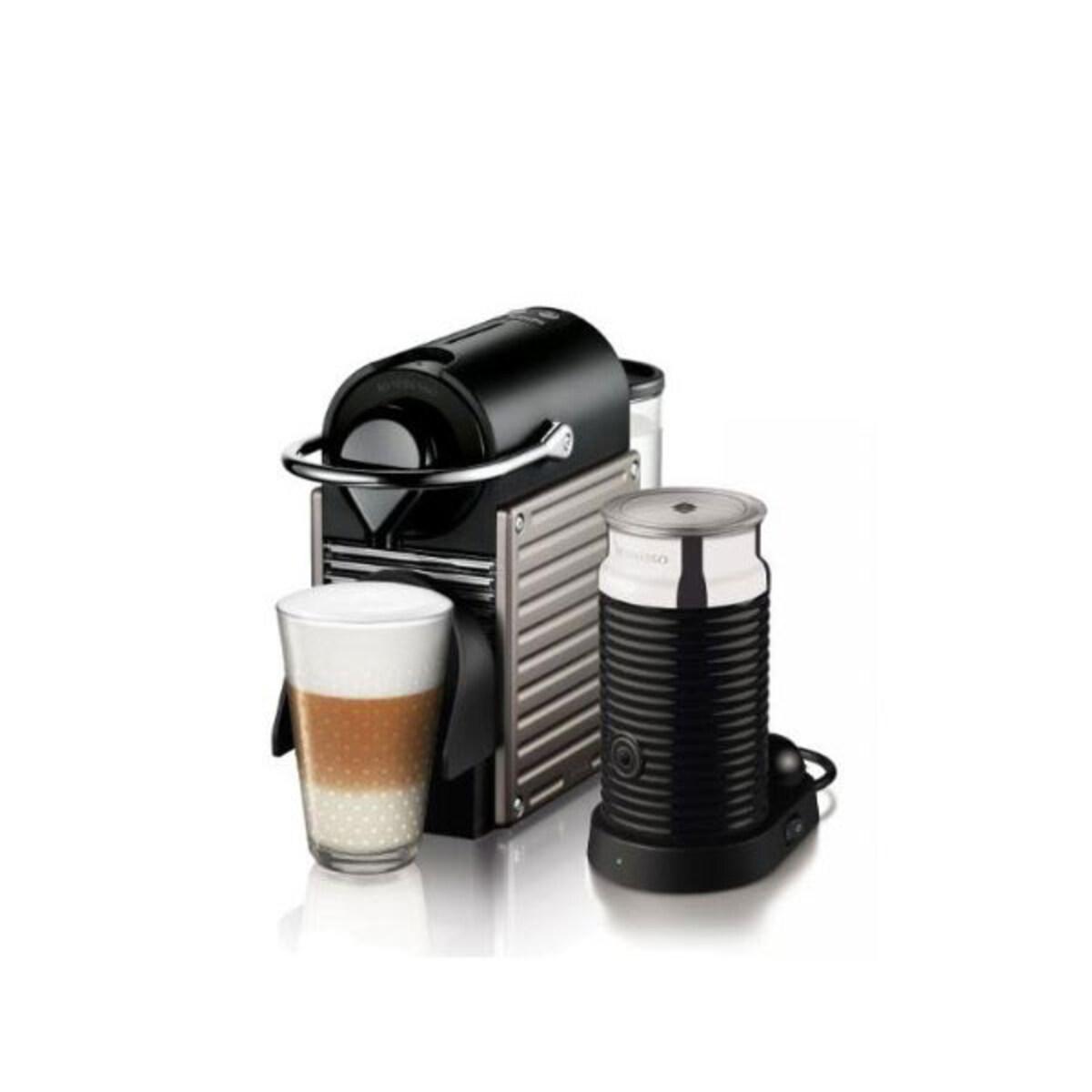 Nespresso Pixie Titanium със система за мляко Aeroccino 3