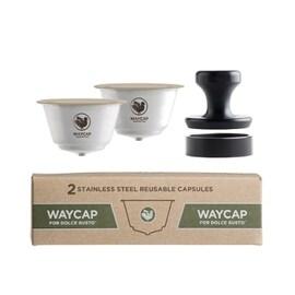 WAYCAP капсули за многократна употреба за Dolce Gusto кафемашина от неръждаема стомана- 2бр